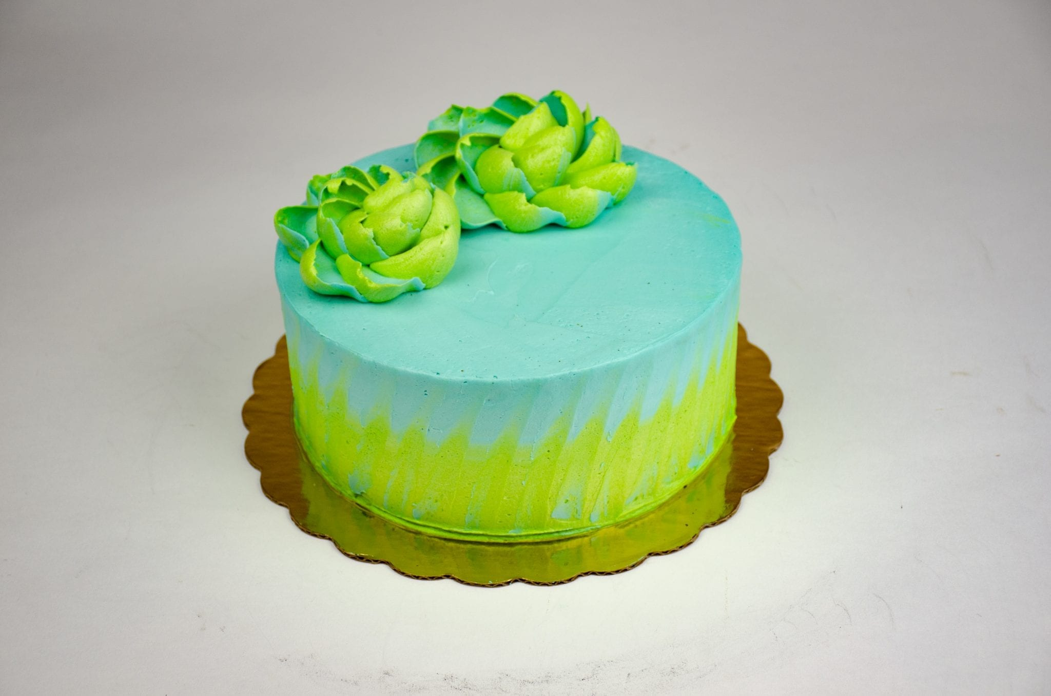 blue and green cake